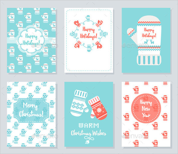 new year greeting cards set