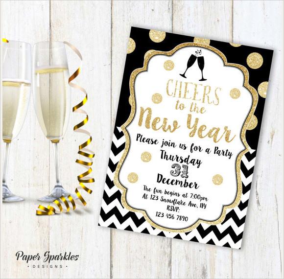 printable new years eve invitation