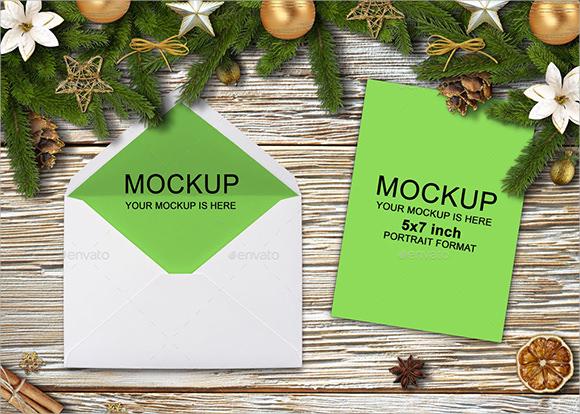 happy new year invites mockup