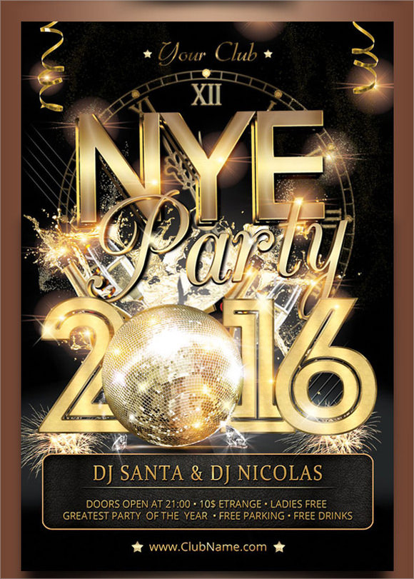 new year party poster download