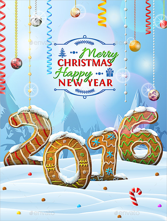 new year christmas poster