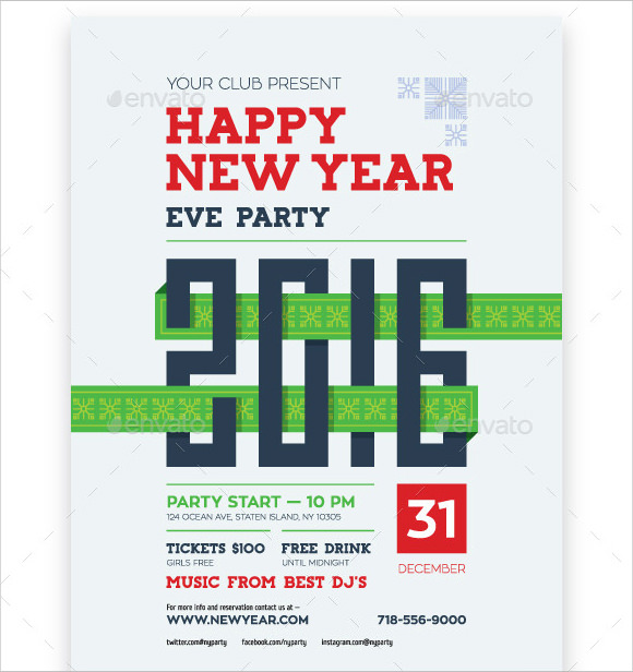 Sample New Year Poster Templates 30 Documents in PDF PSD Vector – New Year Poster Template