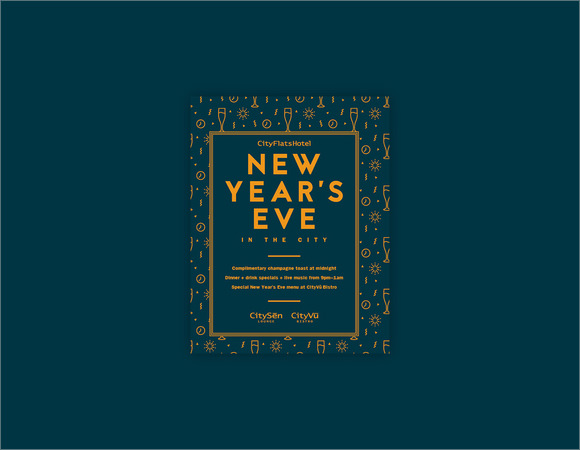 Sample New Year Poster Template