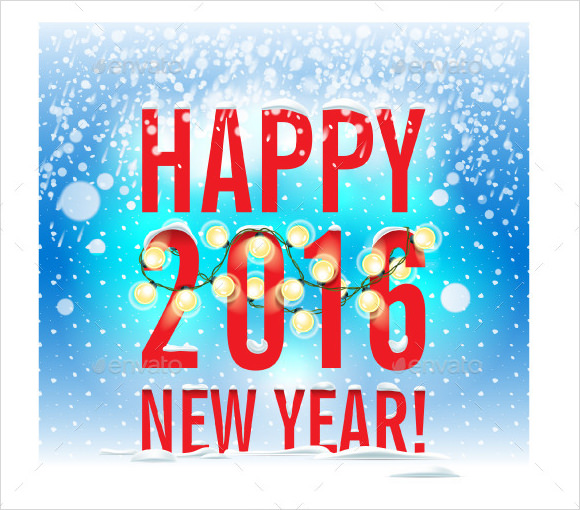 happy new year poster template vector