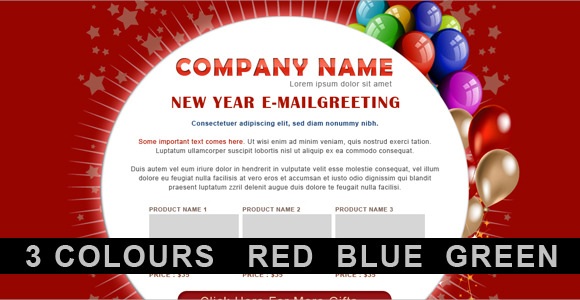 new year email template download