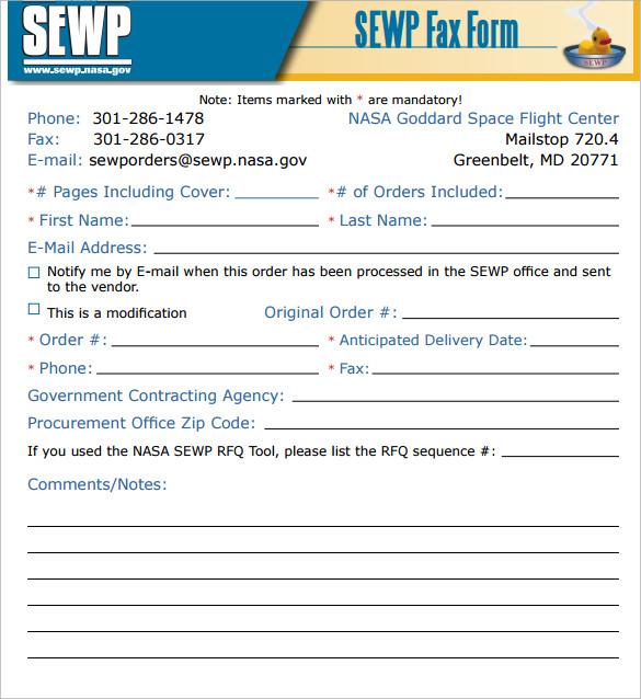 generic fax cover sheet free pdf
