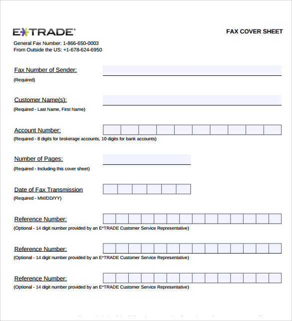 sample generic fax cover sheet