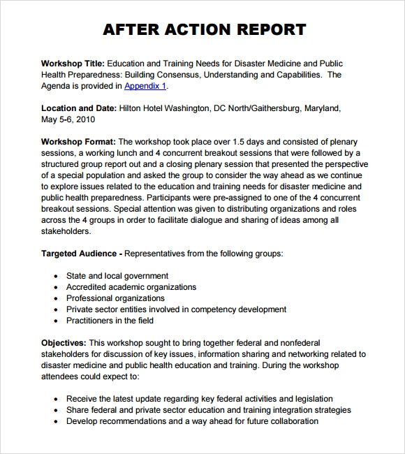 After Action Report Template  SadamatsuHp