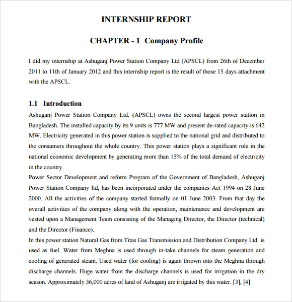 Sample Internship Report Sample 7 Free Documents In Pdf