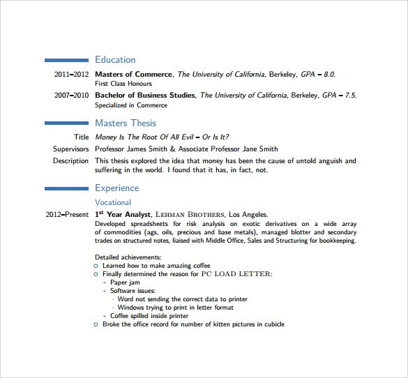 modern cv to download