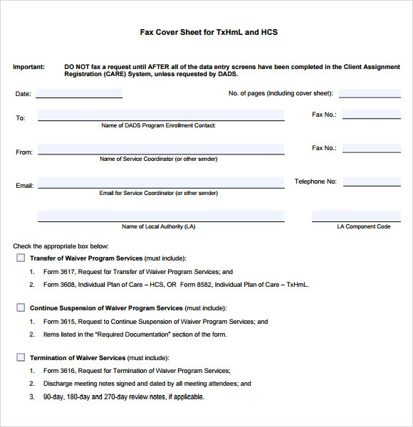 Sample Professional Fax Cover Sheet Template - 5+ Documents In Pdf