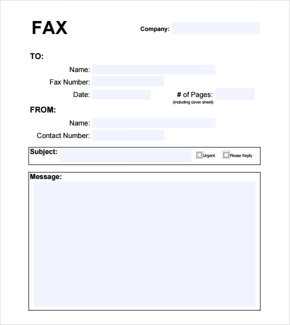 Basic Fax Cover Sheet - 7 Download Documents in PDF ...
