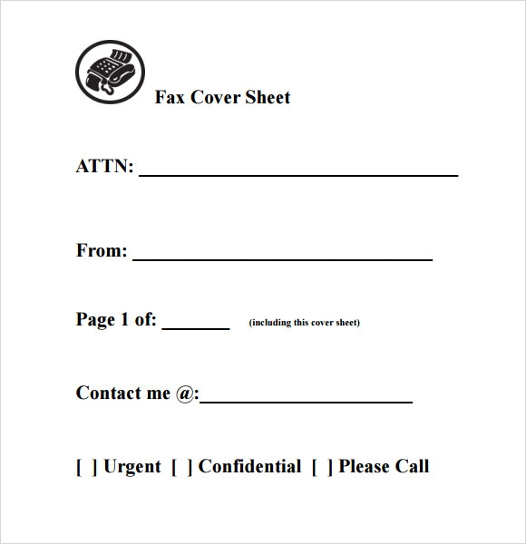 Fax Cover Page. Free Cover Fax Sheet For Microsoft Office, Google ...