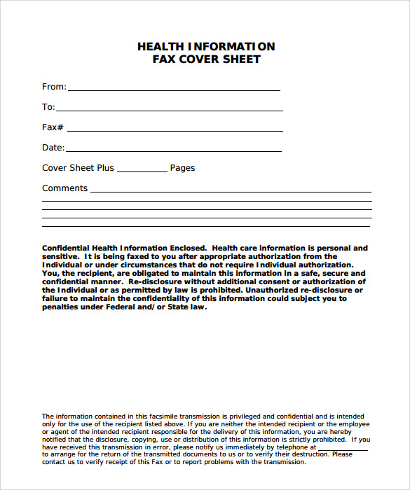 Sample Fax Cover Sheet For Resume - 5+ Documents In Pdf