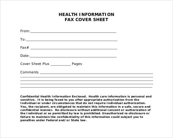 Cute Fax Cover Sheet 7 Download Documents In PDF