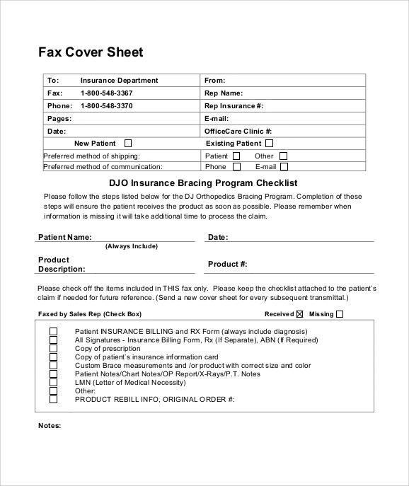 Sample Cute Fax Cover Sheet  KakTakTk