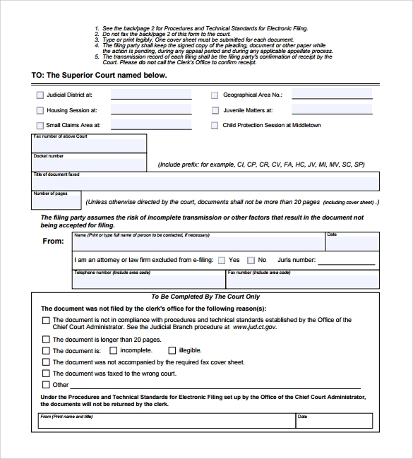 Sample Fax Cover Sheet for CV 5 Documents in PDF – Fax Cover Sheet for Cv