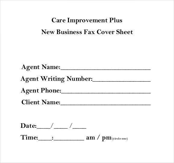 generic business fax cover sheet