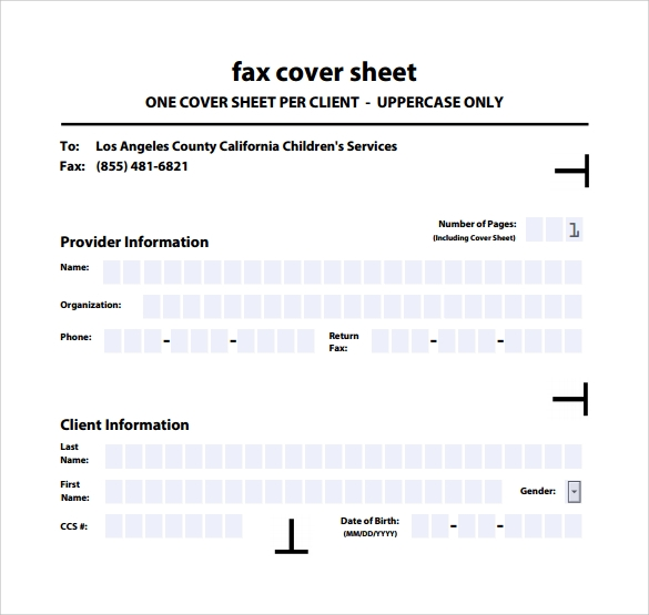 fax cover sheet free download