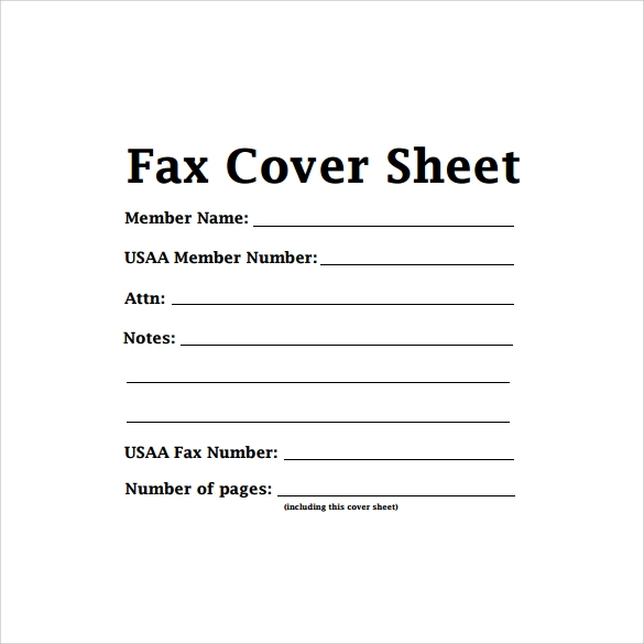 cute fax cover sheet to print