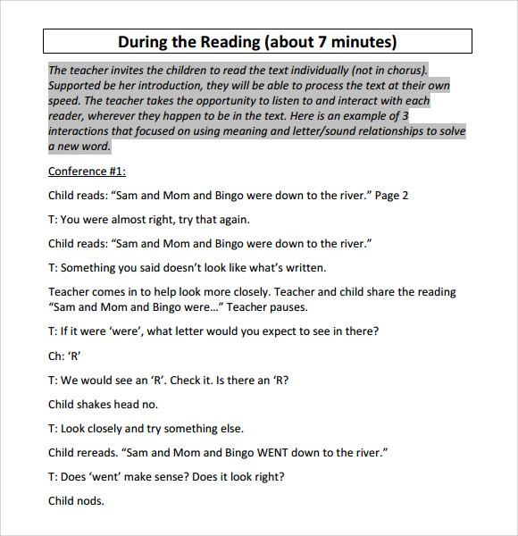 first grade guided reading lesson plans