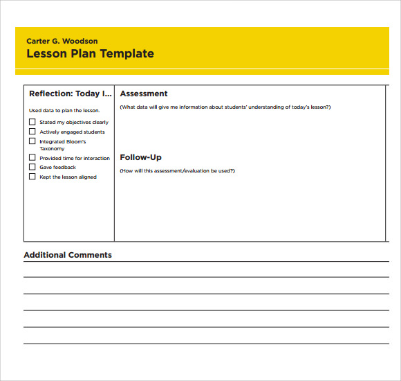 Lesson Plan Template Printable Militaryalicious