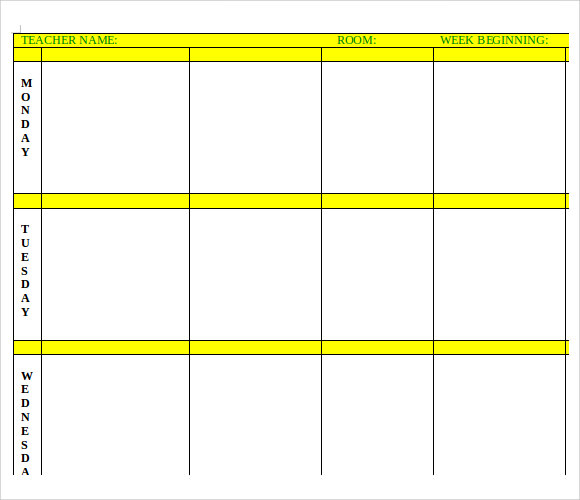 Sample Printable Lesson Plan Template - 6+ Free Documents In Pdf