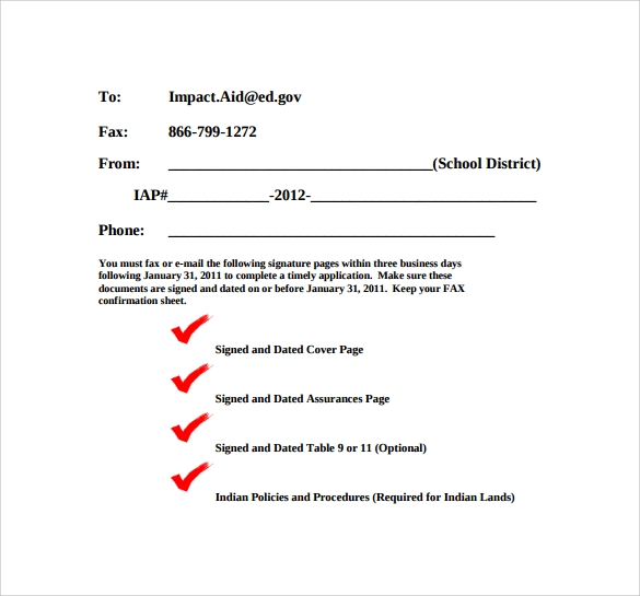 8  basic fax cover sheet samples