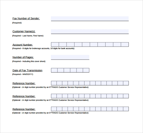 Sample Business Fax Cover Sheet   Free Documents In Pdf