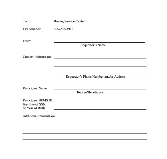 printable basic fax cover sheet1