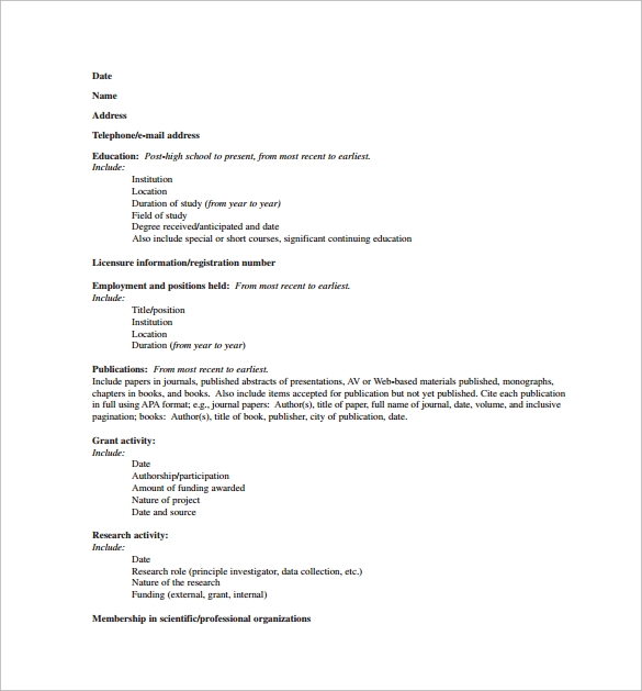 sample nursing cv