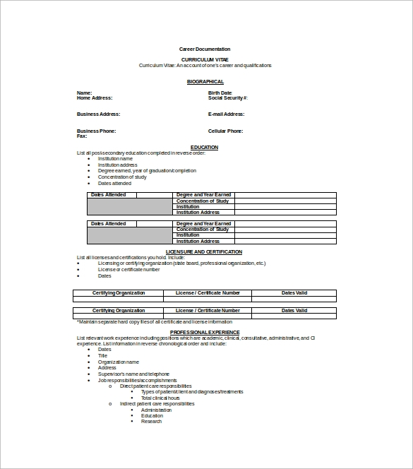 Professional Resume Template Microsoft Word: 8+ Download Free Documents In PDF