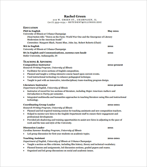 general teaching cv template2