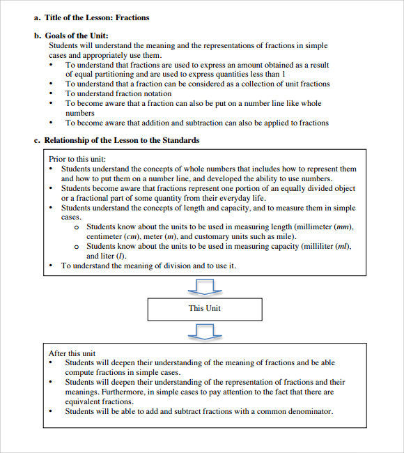 Sample Elementary Lesson Plan Template   Free Documents Download