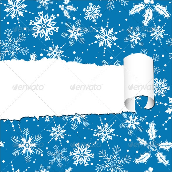 torn christmas paper template