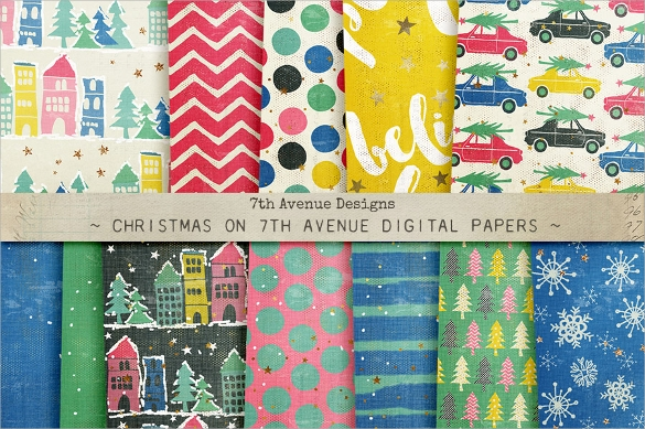 colorful christmas paper