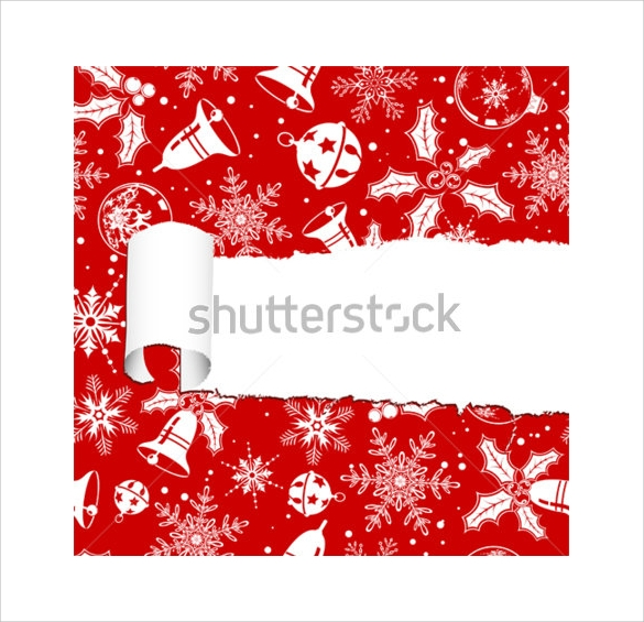 torn christmas paper with hole