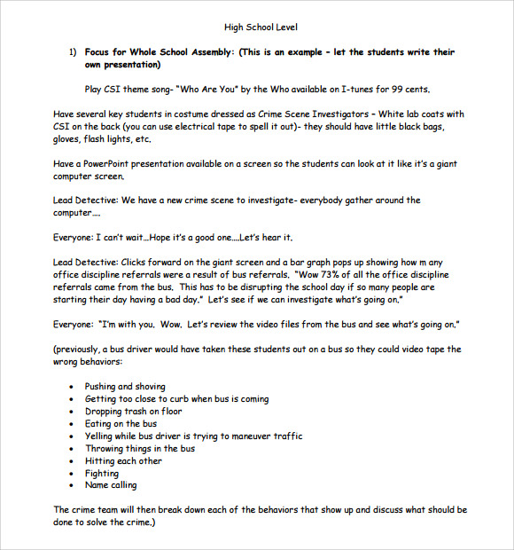 10 Sample High School Lesson Plans Sample Templates
