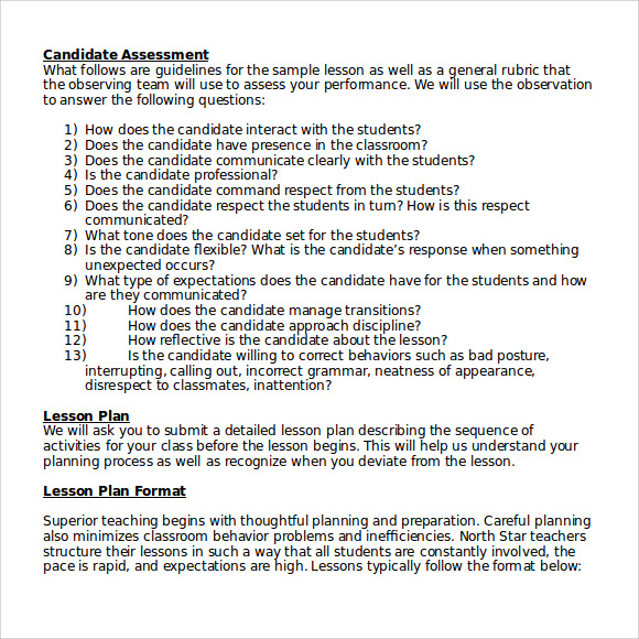 Sample High School Lesson Plan Documents In PDF Word - Lesson plan template doc