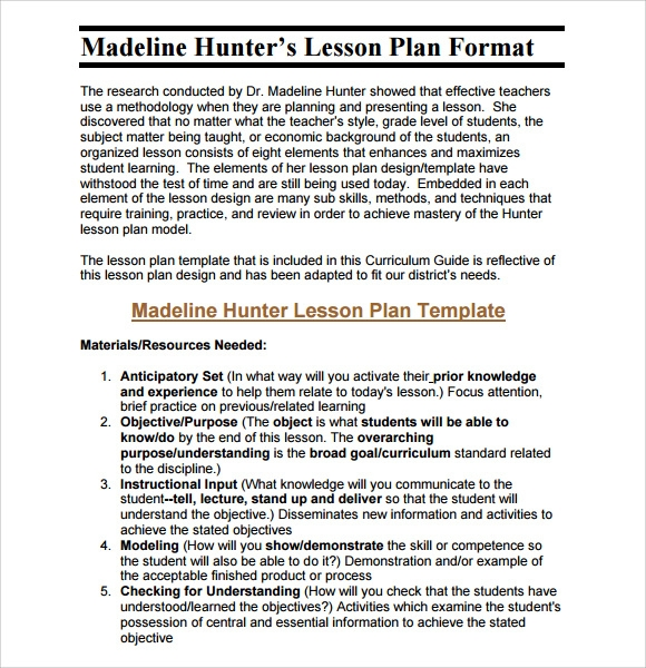 Middle School Lesson Plan Template   7  Download Free Documents in PDF yDKTEE55