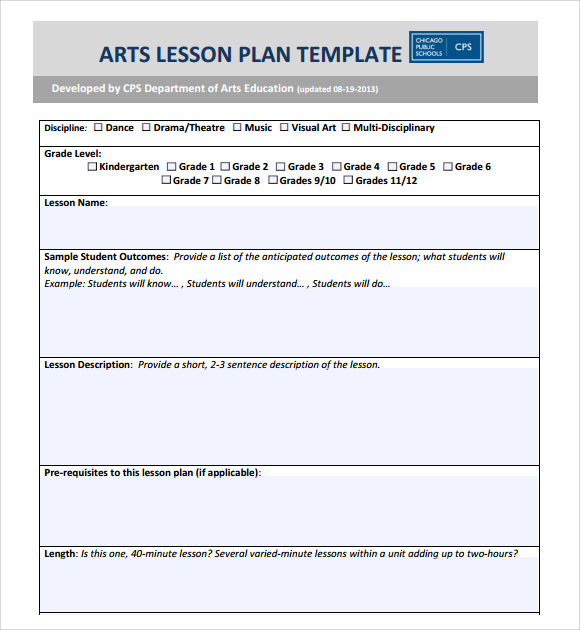 6 point lesson plan template - high school art lesson plan format lesson plan templates