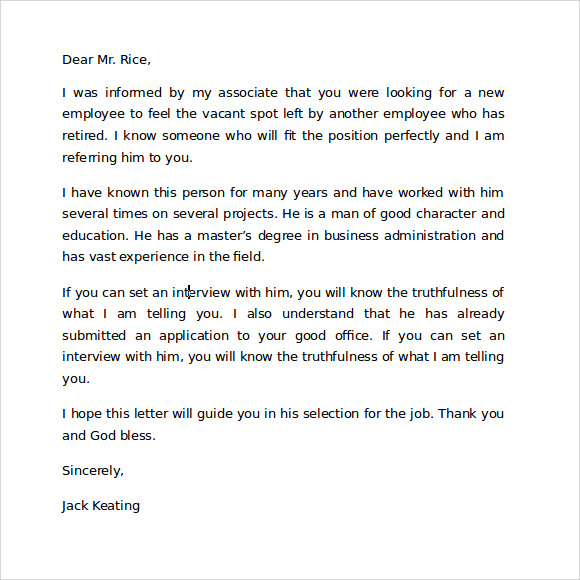 Reference Thank You Letter Sample Job Interview Thank You Letter