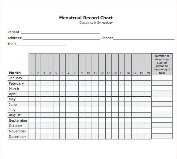 Sample Menstrual Calendar Template - 6+ Free Documents in PDF , Word