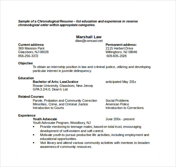 Sample Microsoft Resume 9 Documents in Word