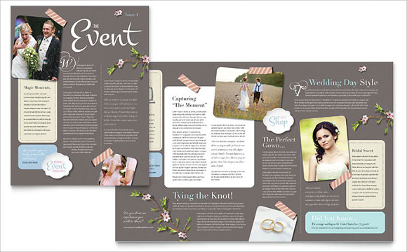 microsoft wedding newsletter template