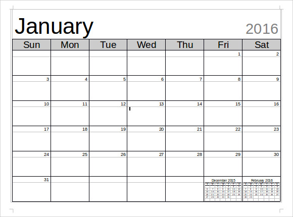 Microsoft Calendar Template -8+ Download Free Documents in Word ...