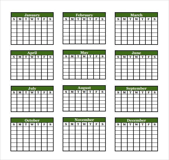 9 microsoft calendar templates download for free sample for Annual event calendar template
