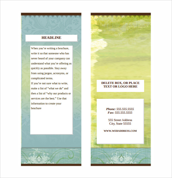 brochure template word - 7 sample microsoft brochures sample templates