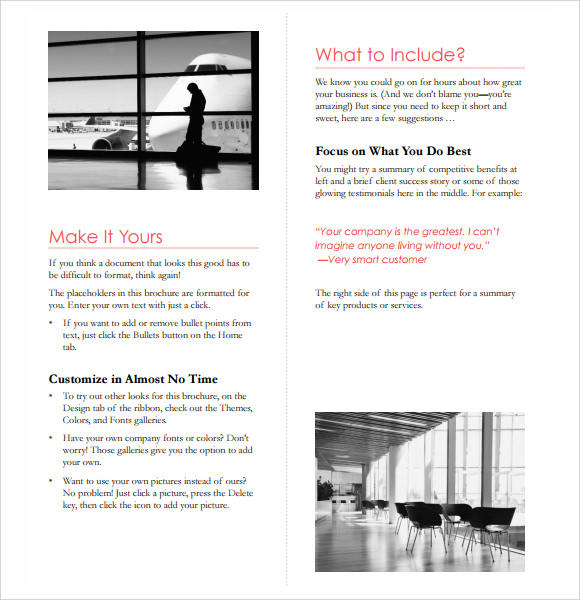 microsoft business brochure template