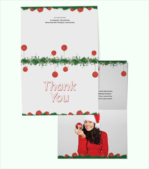 childrens christmas thank you card template